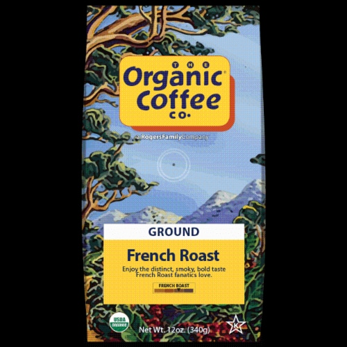 The Organic Coffee Co. French Roast Ground Coffee Perspective: front