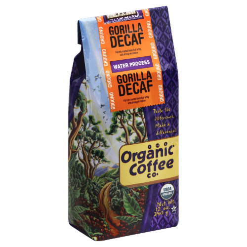 Organic Coffee Co. Gorilla Decaf Ground Perspective: front