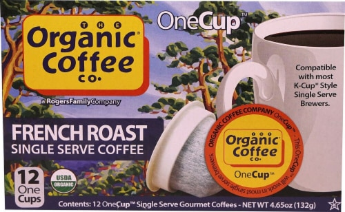 The Organic Coffee Co French Roast Single-Serve Coffee Perspective: front