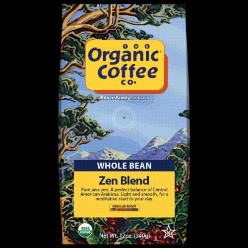 The Organic Coffee Co. Zen Blend Whole Bean Perspective: front