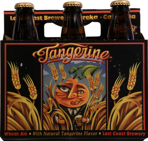 Lost Coast Tangerine Wheat Ale Perspective: front