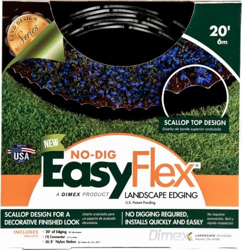 EasyFlex No-Dig Scalloped Landscape Edging - Black Perspective: front