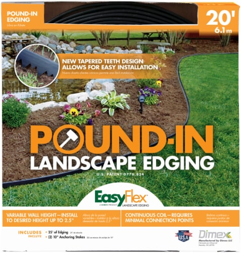 Easy Flex® Pound-In Landscape Edging - Black Perspective: front