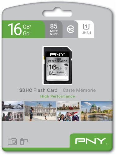 PNY High Performance SDHC Memory Card - Black Perspective: front