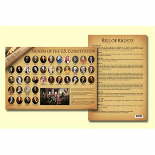 Painless Learning SOC-1 Signers Of The Constitution Placemat - Pack of 4 Perspective: front