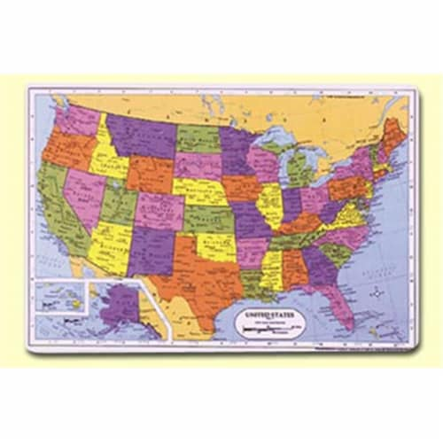 Painless Learning SSR-1 U.S. Placemat - Pack of 4 Perspective: front