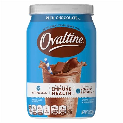 Ovaltine® Rich Chocolate Milk Mix Perspective: front