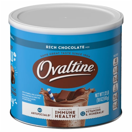 Ovaltine Rich Chocolate Flavored Milk Mix Perspective: front