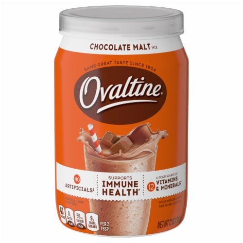 Ovaltine Chocolate Malt Flavored Milk Mix Perspective: front