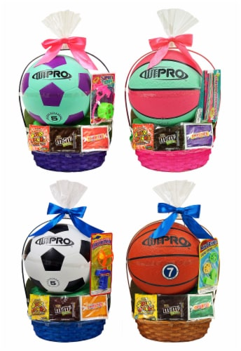 Wondertreats Assorted Large Sports Easter Basket Perspective: front