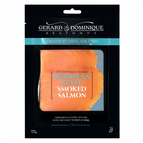 Gerard & Dominique European Style Smoked Salmon Perspective: front