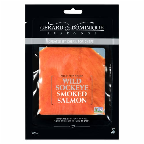 Gerard & Dominque Wild Sockeye Smoked Salmon Perspective: front