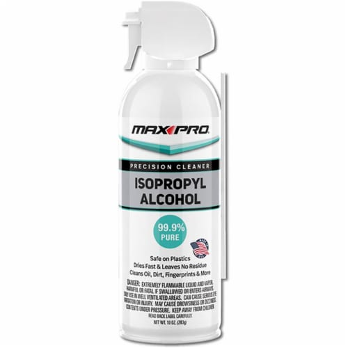 Max Pro  Isopropyl Alcohol  Non-Scented Scent All Purpose Cleaner  Spray  10 oz. - Case Of: Perspective: front