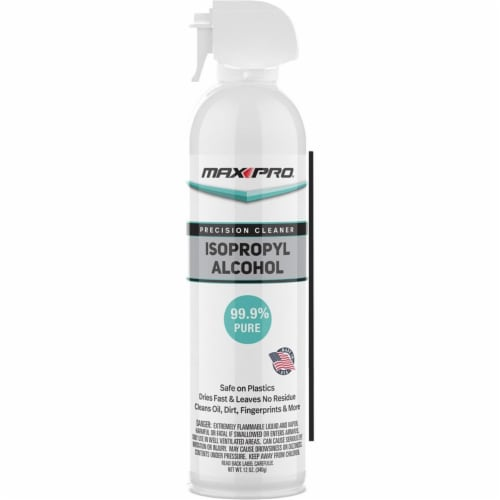 Max Pro IA-3952 12 oz Isopropyl Alcohol Precision Cleaner - Box of 12 Perspective: front