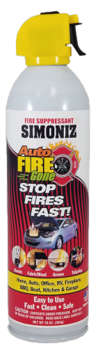 Simoniz Fire Gone Fire Suppressant - Red/Yellow Perspective: front