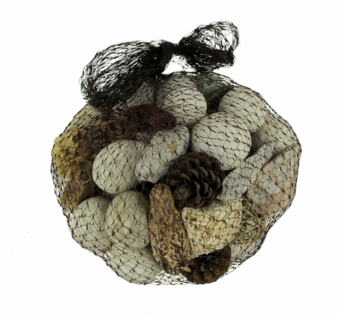 Neutral White Decorative Mushroom Mix Assorted Dried Botanicals In a Bag Perspective: front