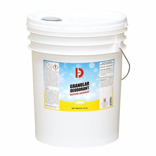 Big D Garbage Can Odor Eliminator Granular Deodorant Moisture Absorber, Lemon Perspective: front