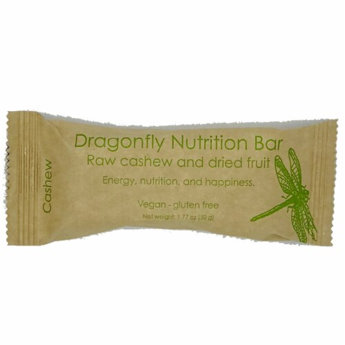 Dragonfly Raw Cashew And Dried Fruit Nutrition Bar Perspective: front