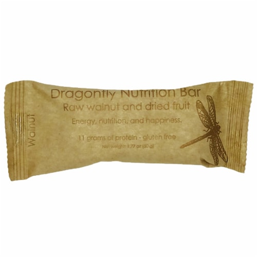 Dragonfly Raw Walnut And Dried Fruit Nutrition Bar Perspective: front