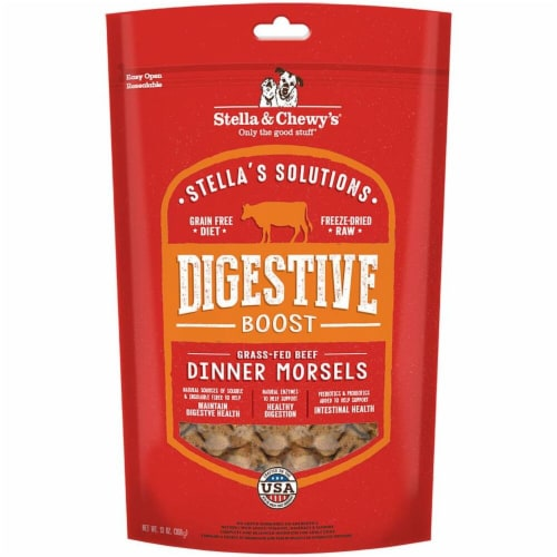 13 oz Dog Solution Digestive Boost Beef Perspective: front