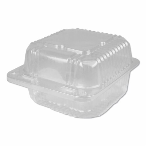 DPK 28 oz 6 in. Container Plastic Square Hinged, Clear Perspective: front