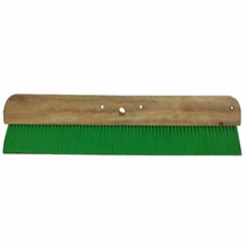 Green Nylon Concrete Broom - 24 in. Perspective: front