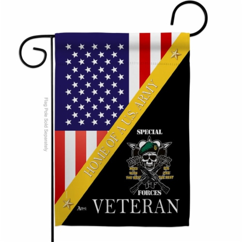 Americana Home & Garden G142893-BO 13 x 18.5 in. Home of Arny Special Forces Garden Flag with Perspective: front