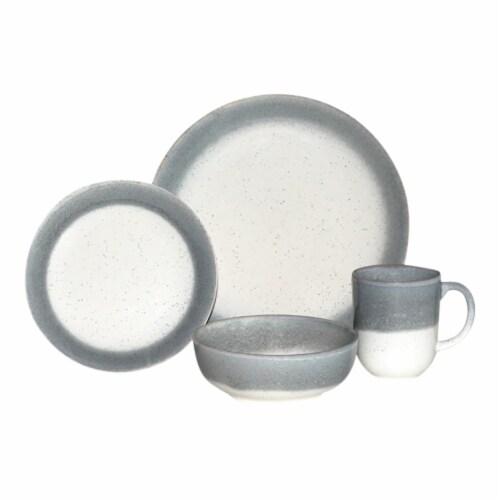 Baum Marina Dinnerware Set - Grey Perspective: front