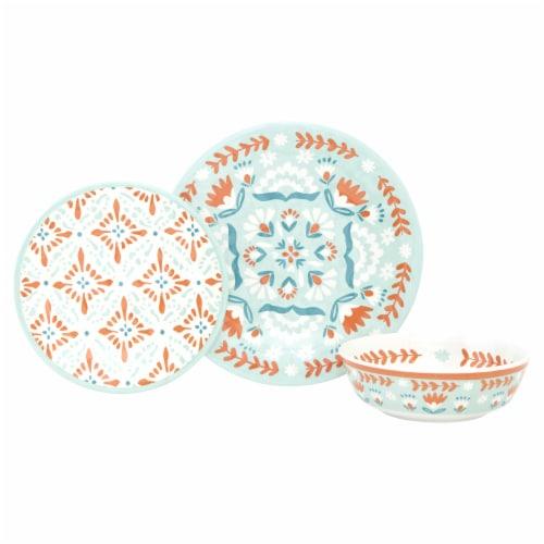 Baum Dinnerware Set - Folk Medallion Multi Perspective: front