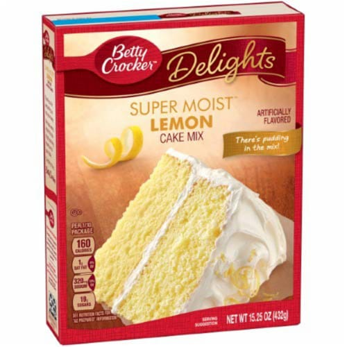 Betty Crocker Supermoist Cake Mix, Lemon (Pack of 2) Perspective: front
