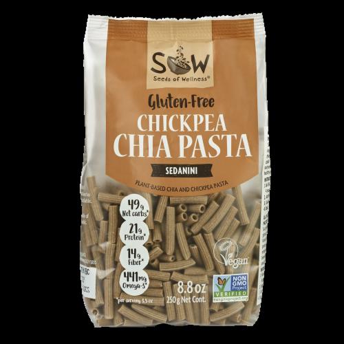 Seeds of Wellness Gluten-Free Chickpea Chia Sedanini Pasta Perspective: front