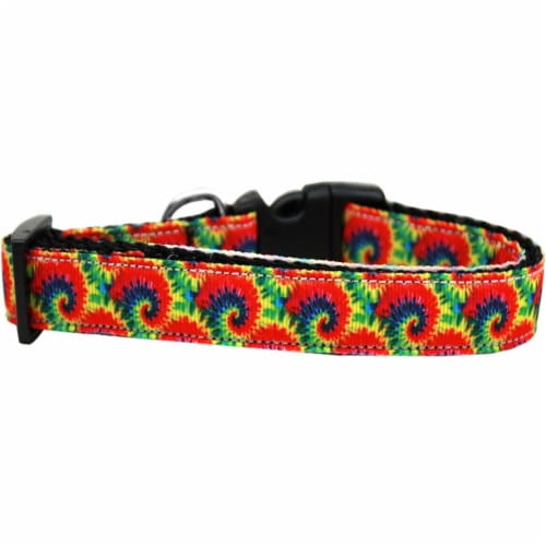 Tie Dye Nylon Ribbon Dog Collar - Extra Large Perspective: front