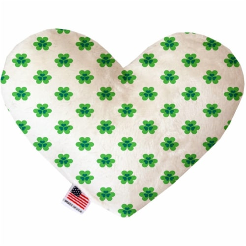 6 in. Lucky Charms Heart Dog Toy Perspective: front