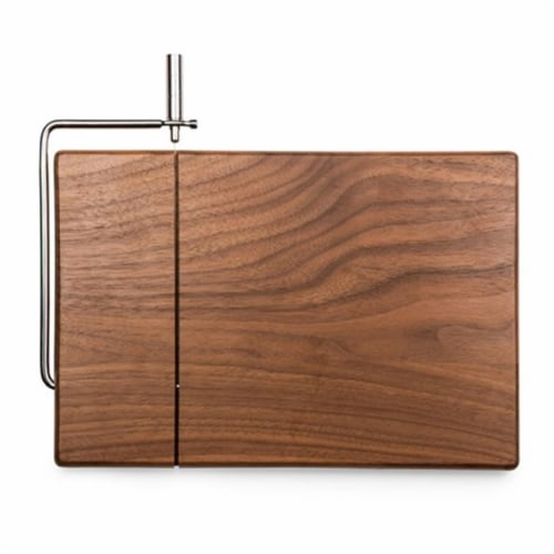 Meridian Black Walnut Cutting Board & Cheese Slicer Perspective: front