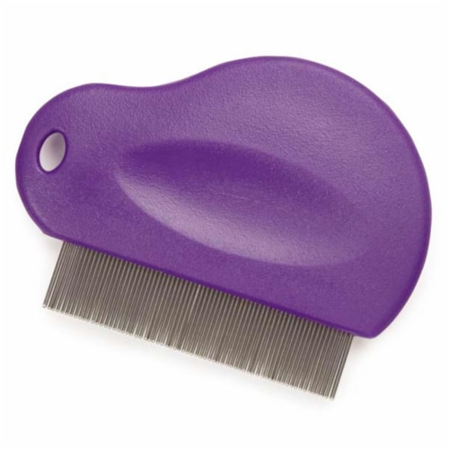Contouted Grip Flea Comb Pur Perspective: front