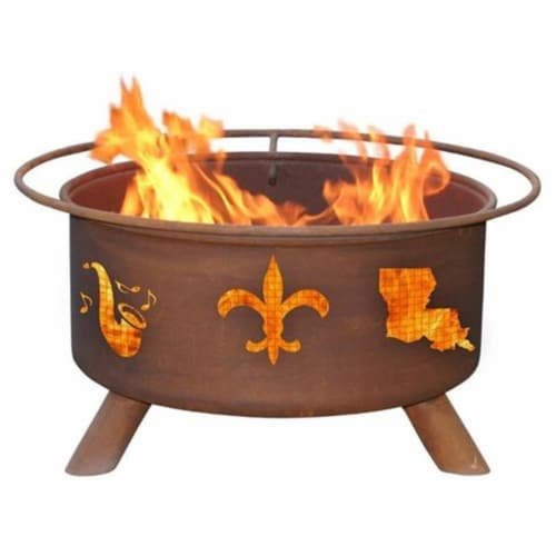 Mardi Gras Fire Pit Perspective: front