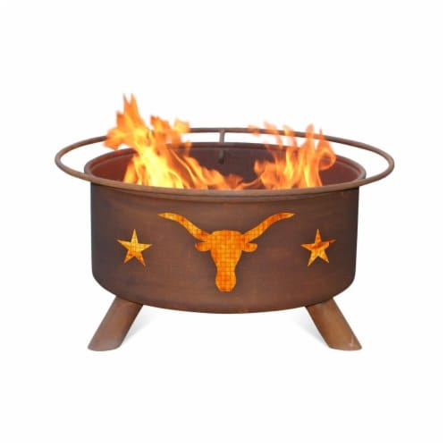 Texas Longhorn Fire Pit Perspective: front