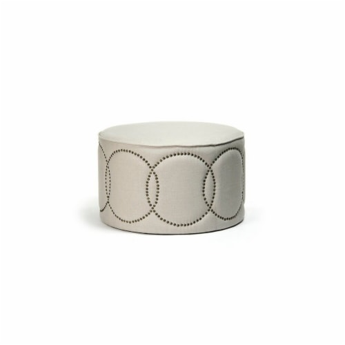Daisi Ottoman, 30 x 17 x 30 in. Perspective: front