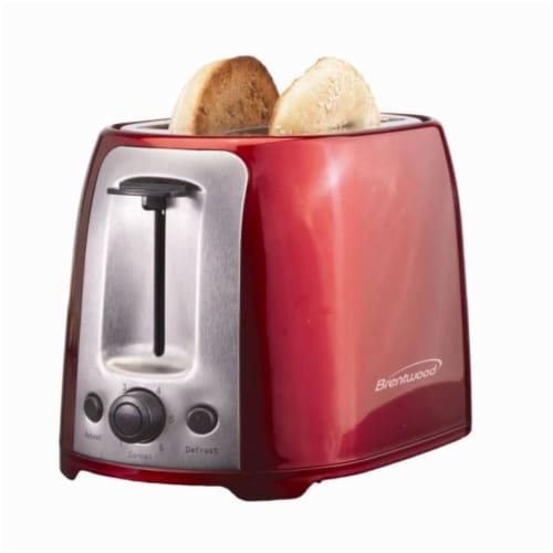 2 Slice Cool Touch Toaster Red Perspective: front