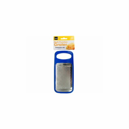 Kole Imports GR218-24 6.75 x 3.125 in. Multi-Function Cheese Grater with Storage Container - Perspective: front