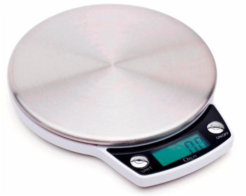 Ozeri Precision Pro Stainless-Steel Digital Kitchen Scale with Oversized Weighing Platform Perspective: front