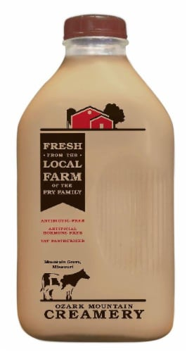 Ozark Mountain Dairy Chocolate Milk Perspective: front