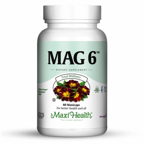 Maxi Health  Mag 6™ Magnesium with B6 Perspective: front