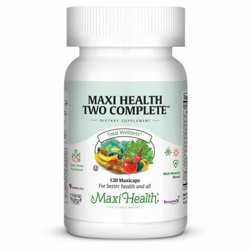Maxi Health  Two Complete™ Without Iodine Multi Vitamin And Mineral Perspective: front