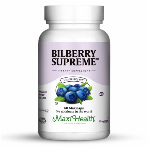 Maxi Health  Kosher Bilberry Supreme™ Perspective: front