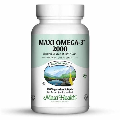 Maxi Health  Kosher Maxi-Omega-3™ 2000 Perspective: front