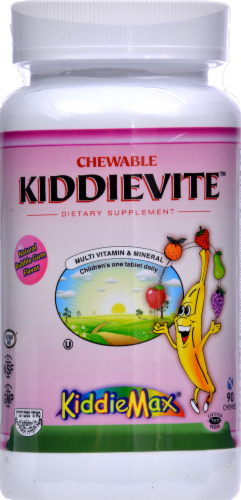 Maxi-Health Chewable Kiddievite KiddieMax Natural Bubble Gum Chewables Perspective: front
