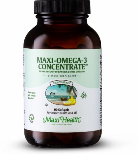 Maxi Health  Maxi Omega-3™ Concentrate Perspective: front