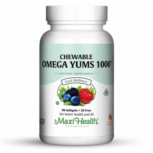 Maxi Health  Omega Yums 1000™ Maxi-Yums™   Fruity Burst Perspective: front