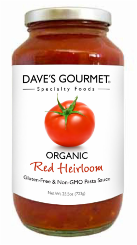 Dave's Gourmet Organic Red Heirloom Pasta Sauce Perspective: front